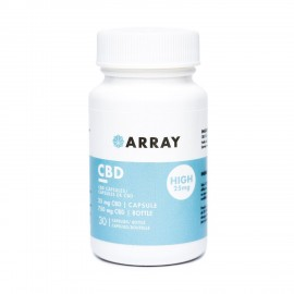 Array CBD Capsules - 25mg CBD (30 Count Bottle)