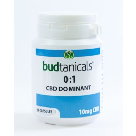 Budtanicals CBD Capsules - 10mg CBD (60 Count Bottle)