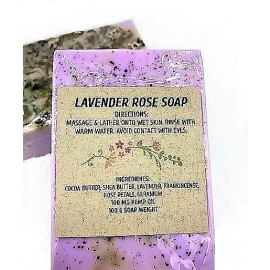 Gaia CBD Lavender Rose Soap