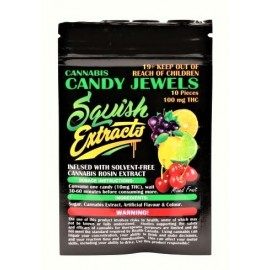 Squish Candy Jewels -  Assorted Fruit Flavours (100mg THC)
