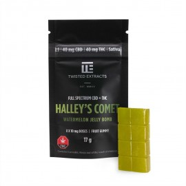 Jelly Bomb - Halley's Comet Watermelon - 40mg THC/40mg CBD (Sativa)