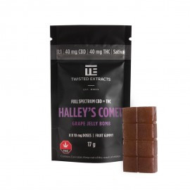 Jelly Bomb - Halley's Comet Grape - 40mg THC/40mg CBD (Sativa)